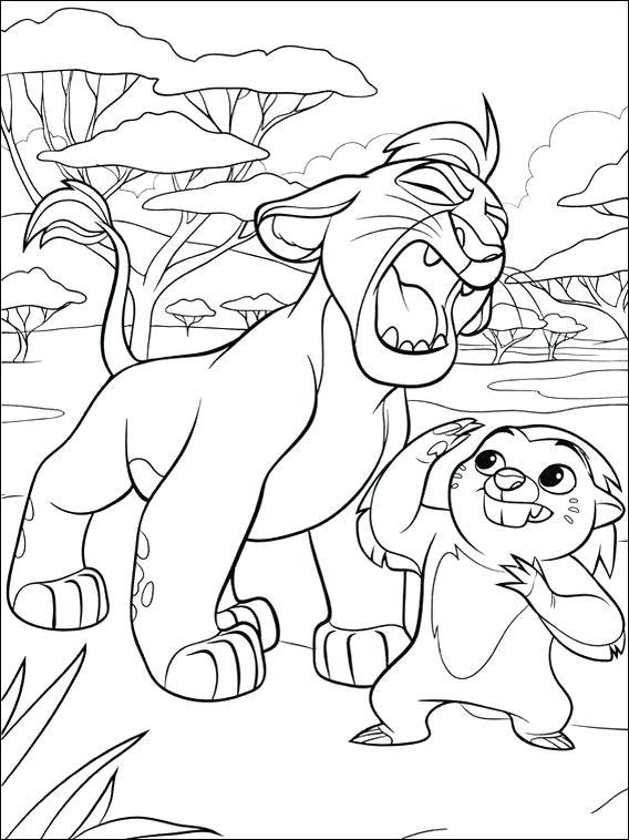Coloriage Kion Lion Guard à imprimer
