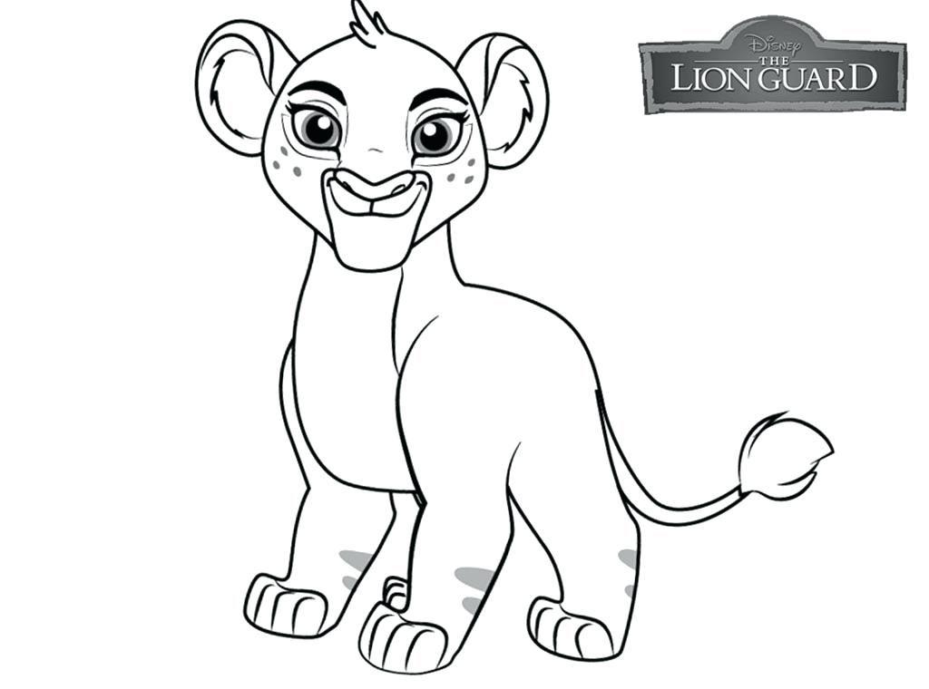 Coloriage lionceau
