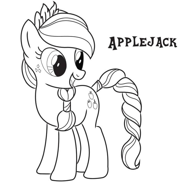 Coloriage Applejack Frienship