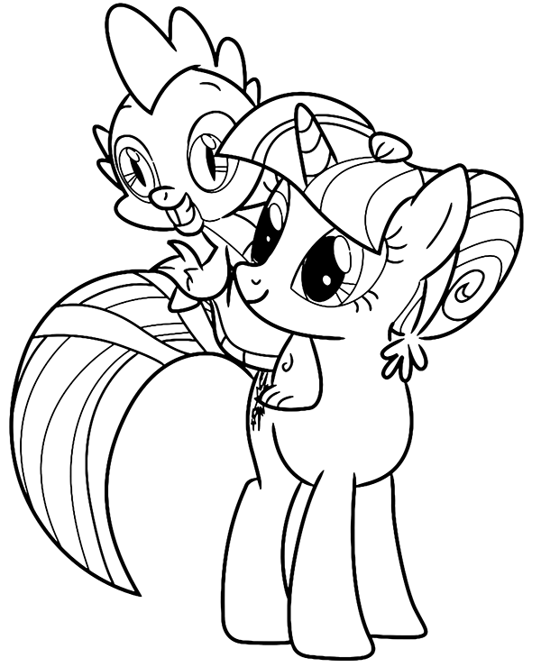 Coloriage Mlp Spike