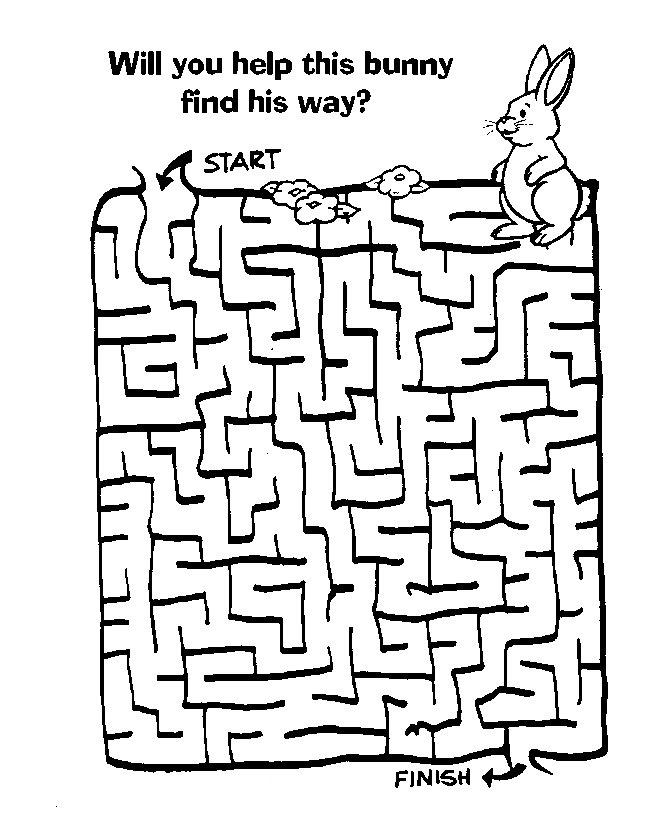 Labyrinthes de lapin de Pâques