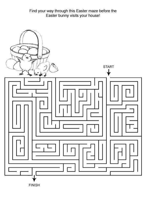 Trouvez votre chemin Labyrinthes de Pâques