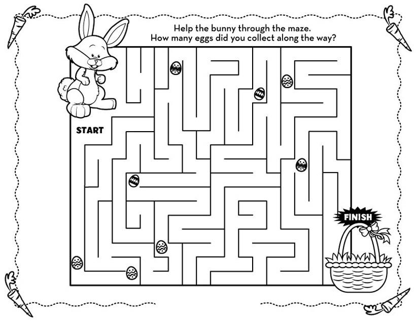 Labyrinthes de Pâques amusants