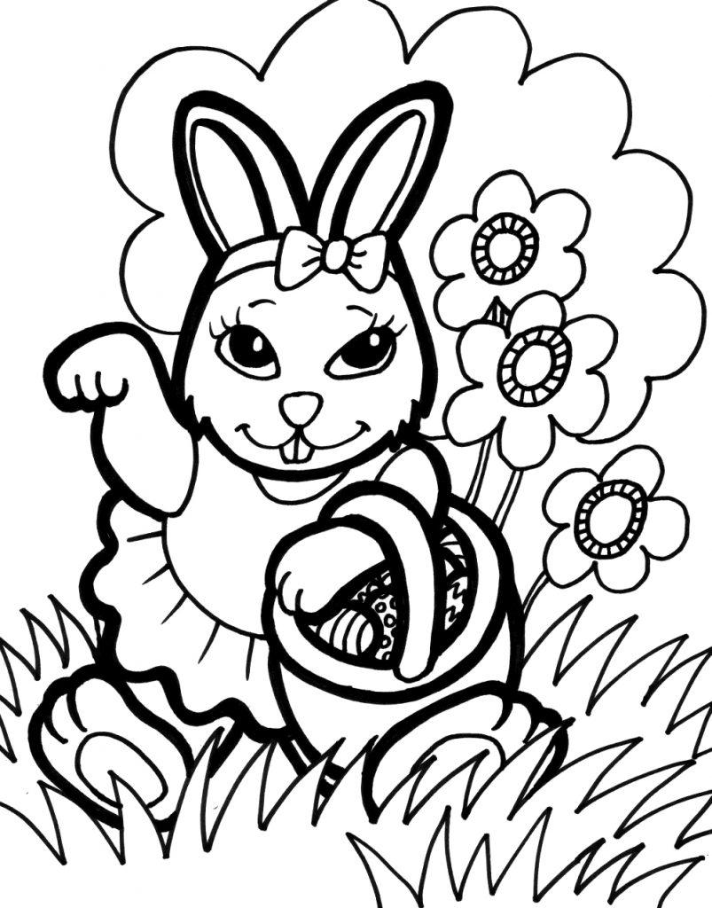 Coloriage lapin gratuit à imprimer