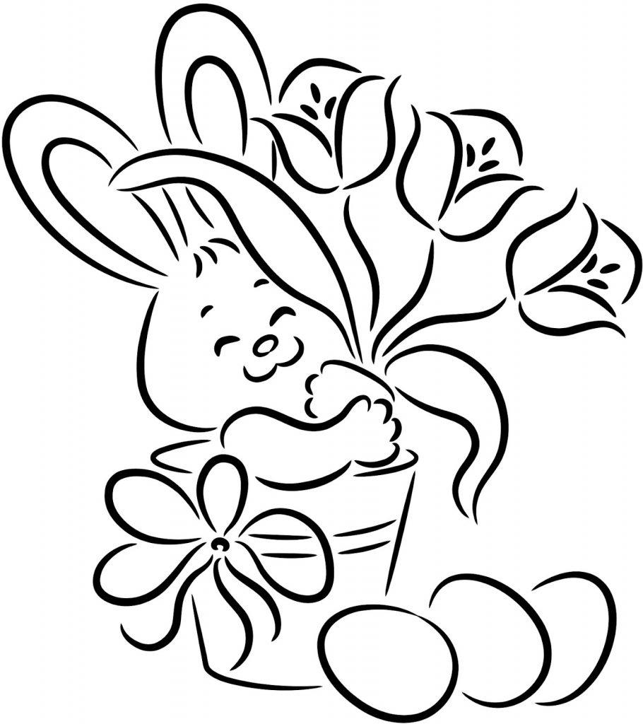 Coloriage de lapin gratuit à imprimer