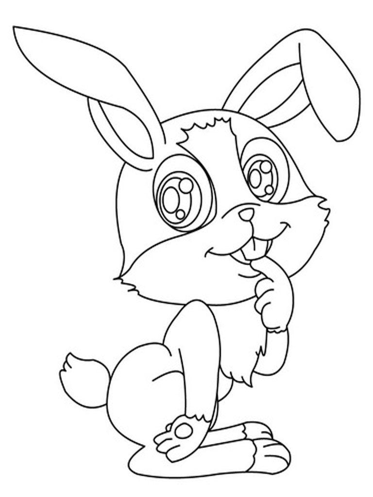 Télécharger des coloriages de lapin