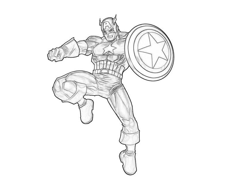Captain America à colorier