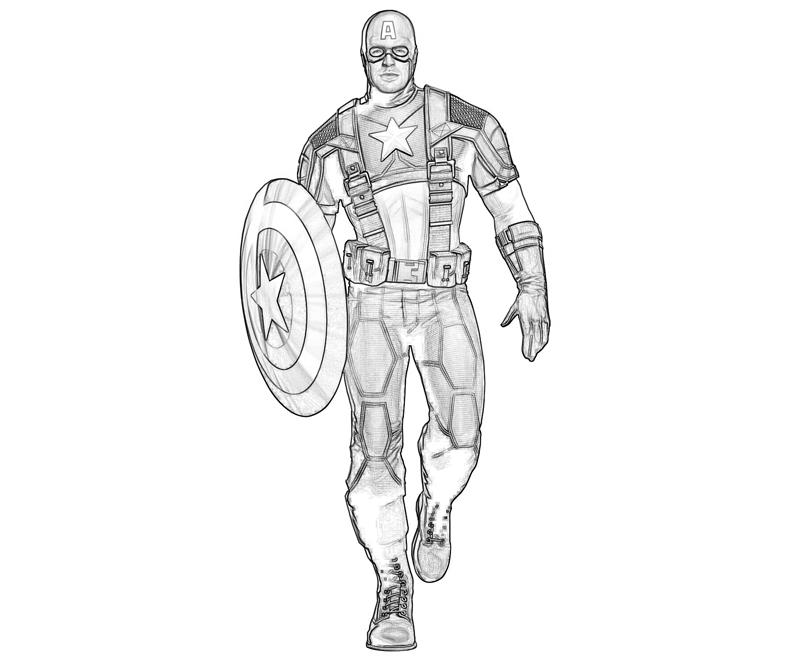 Coloriage Captain America pour les enfants