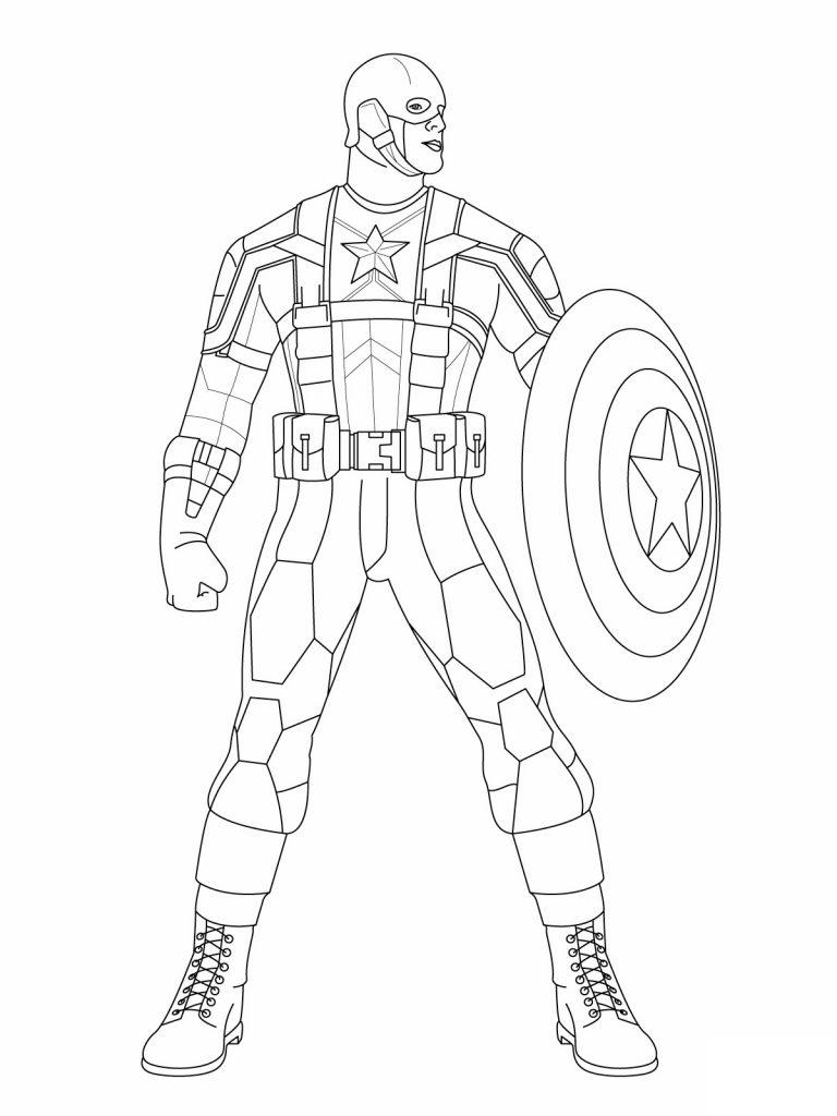 Coloriage Captain America Photos