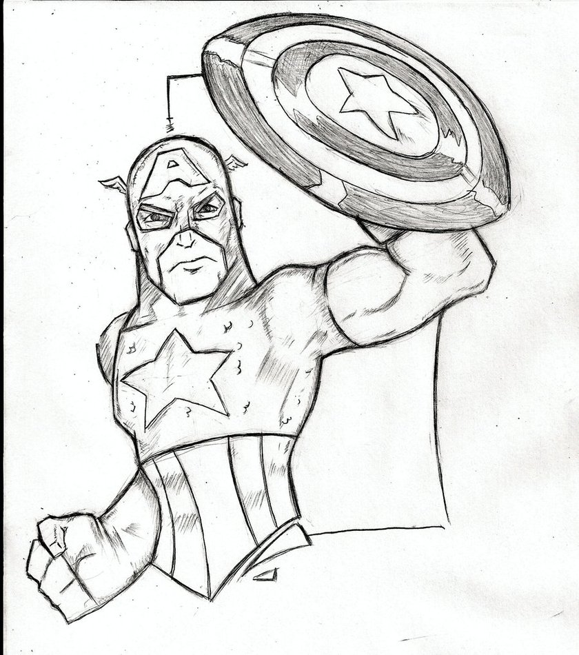 Photo de Coloriage Captain America