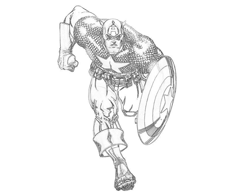 Coloriage Captain America gratuit
