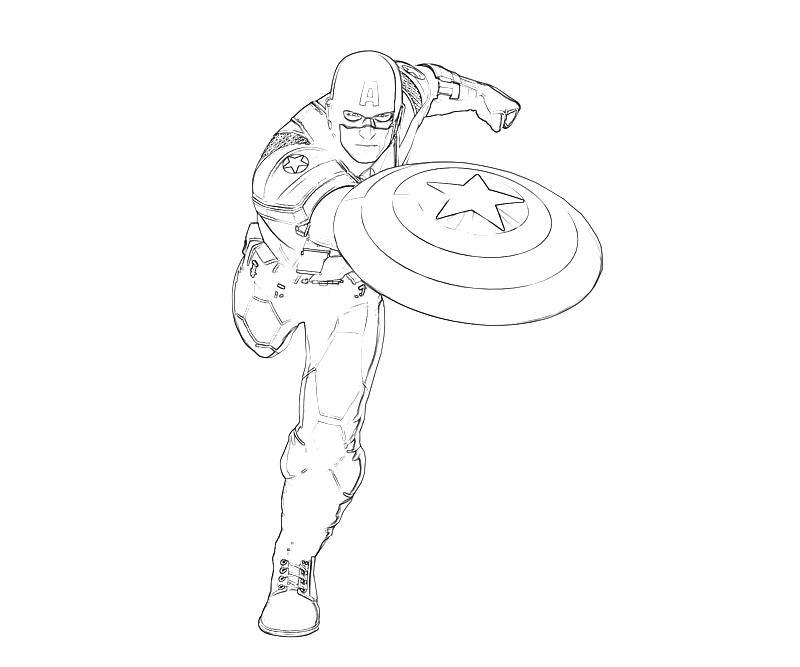 Coloriage de Captain America