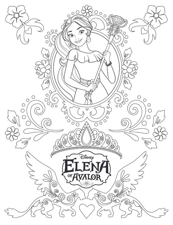 Coloriage Elena d'Avalor