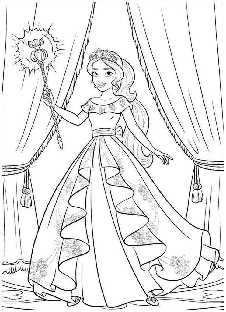 Coloriage Elena d'Avalor à imprimer