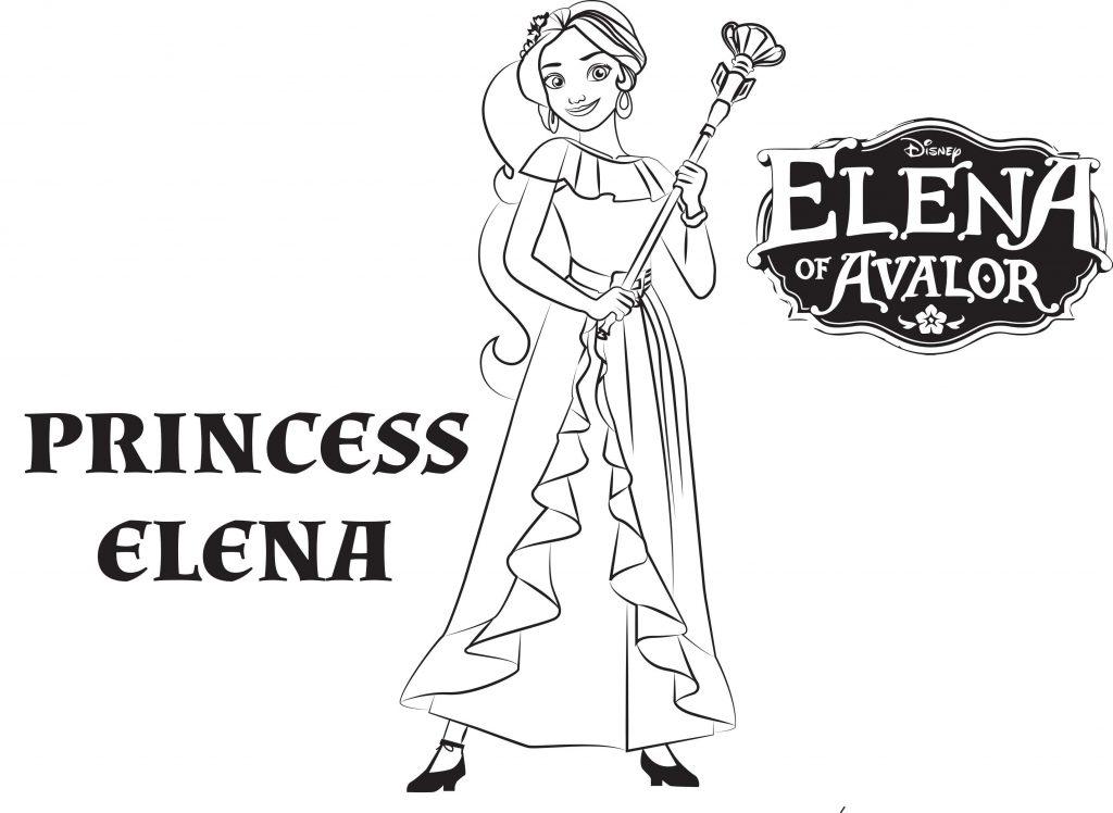 Coloriage Princesse Elena d'Avalor