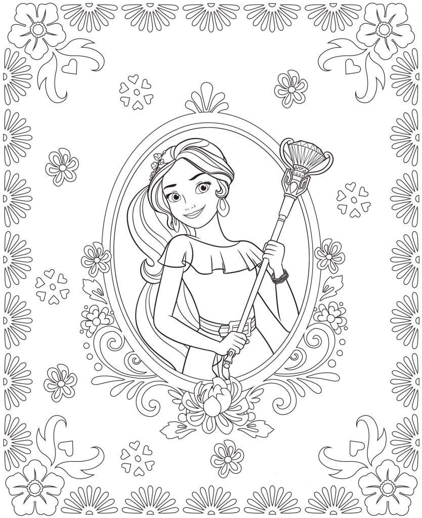 Princesse Elena à colorier