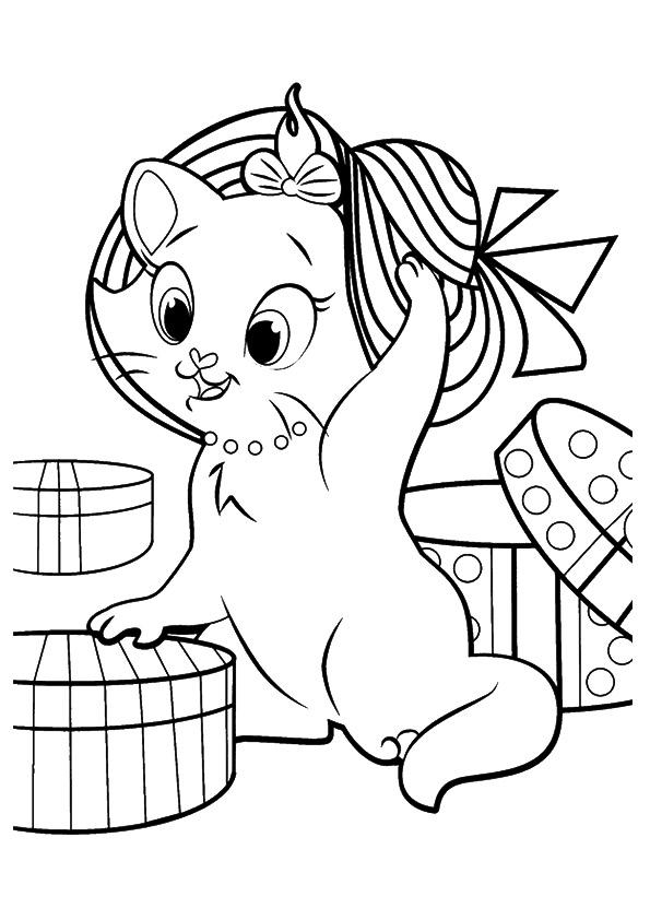 images de chaton à colorier