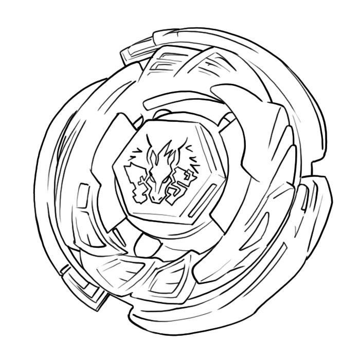 Coloriage Beyblade Pegasus