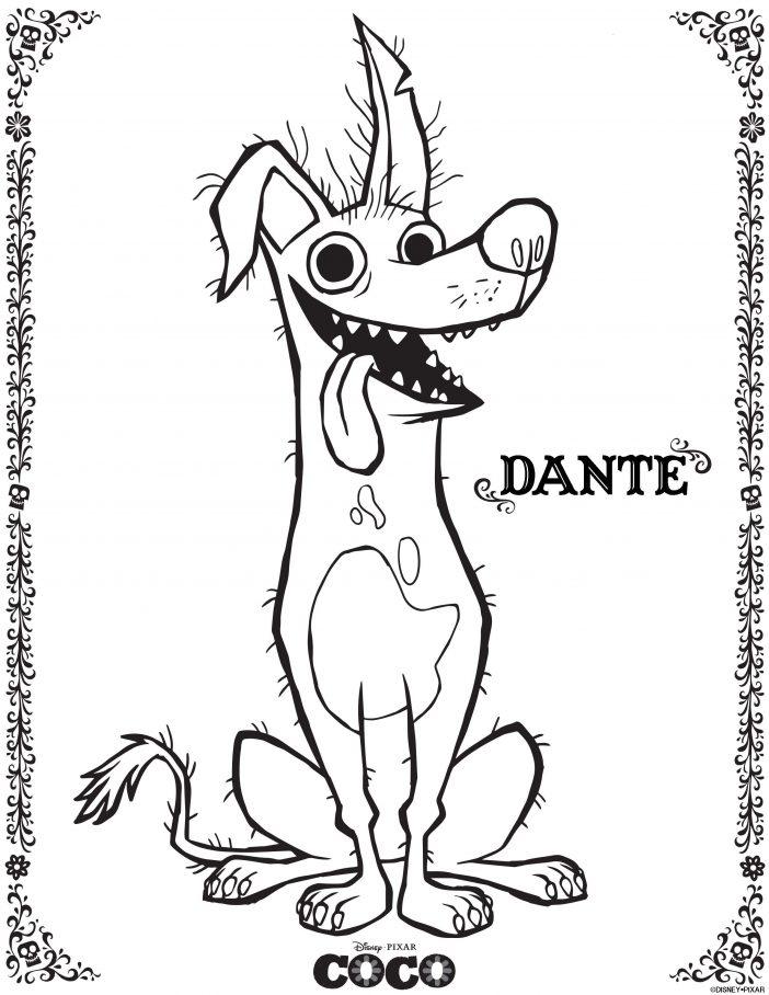 Coloriage Dante Coco