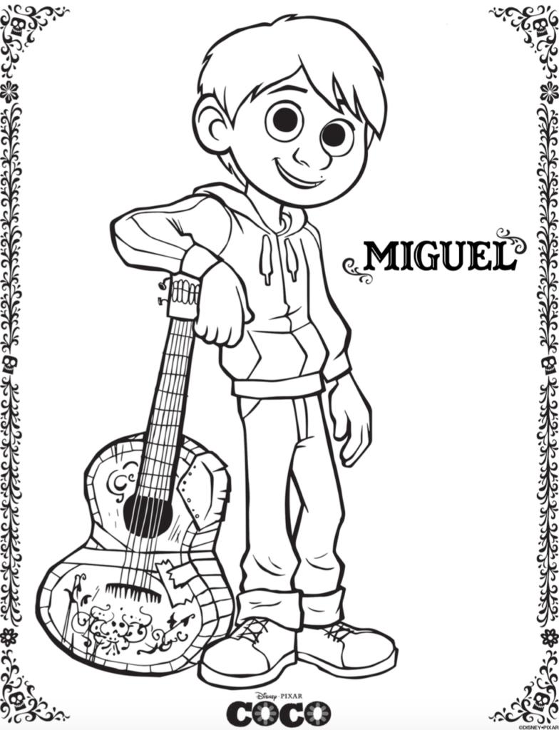 Miguel - Coloriages Coco