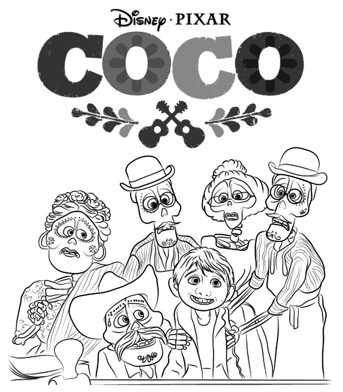 Coloriage Coco