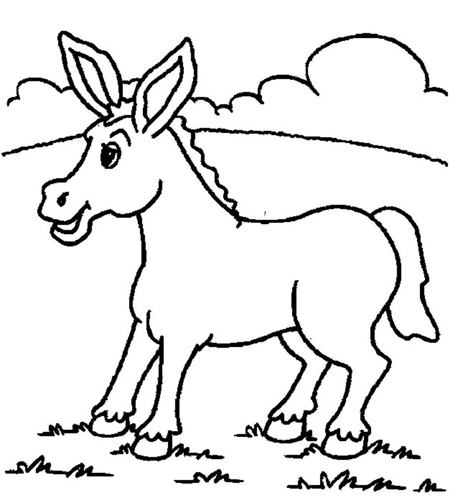 Coloriage âne gratuit
