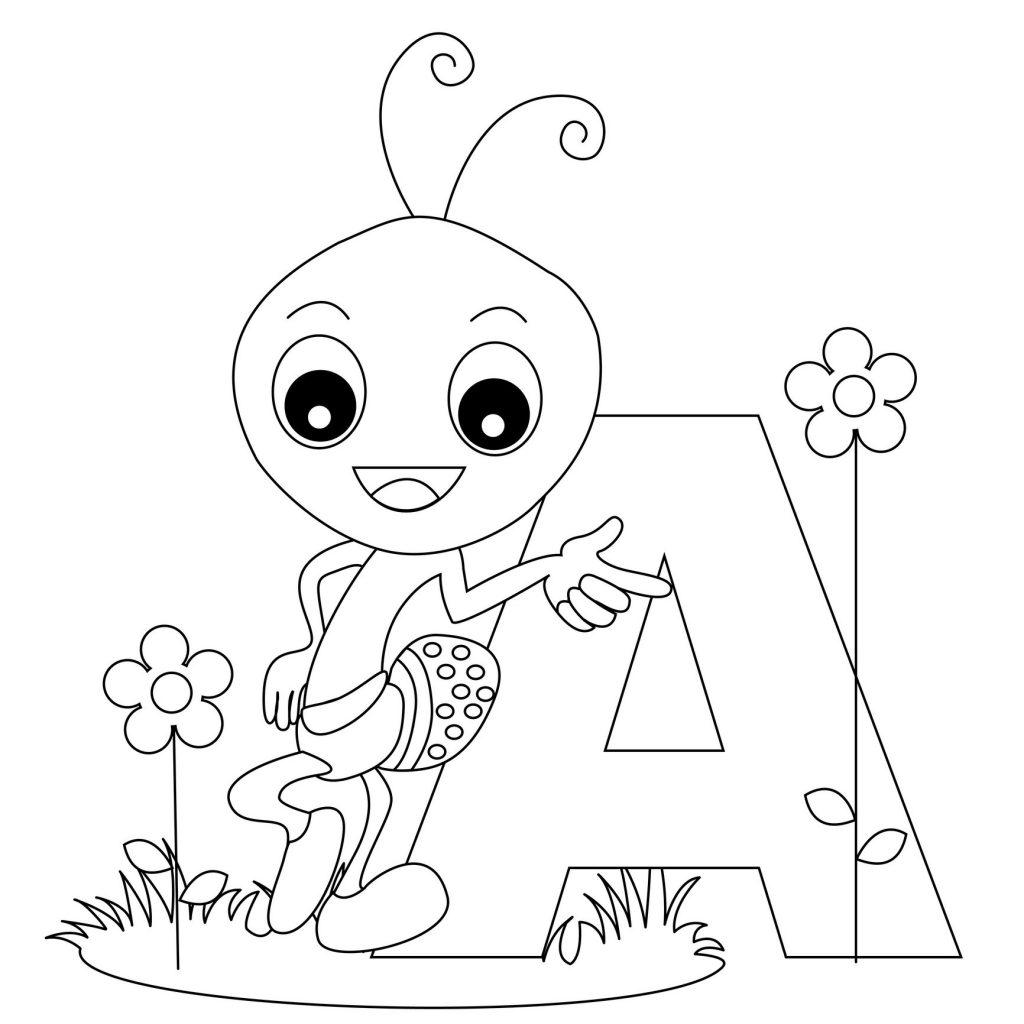 coloriage alphabet - Lettre A
