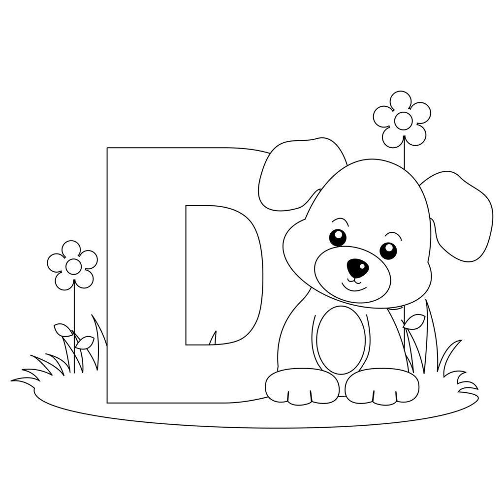 coloriage alphabet - Lettre D