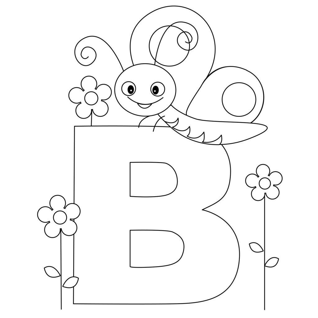 coloriage alphabet - Lettre B