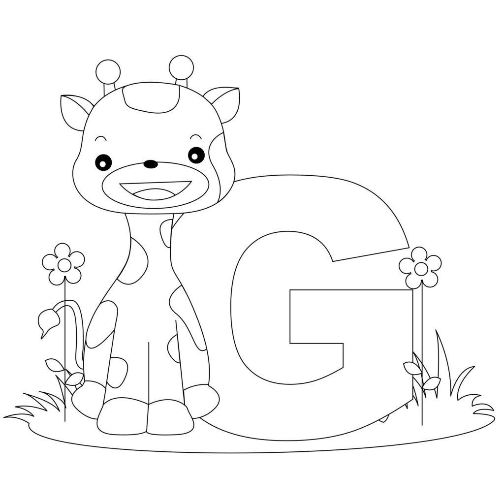 coloriage alphabet - Lettre G