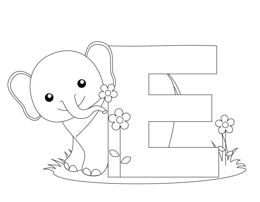 coloriage alphabet - Lettre E