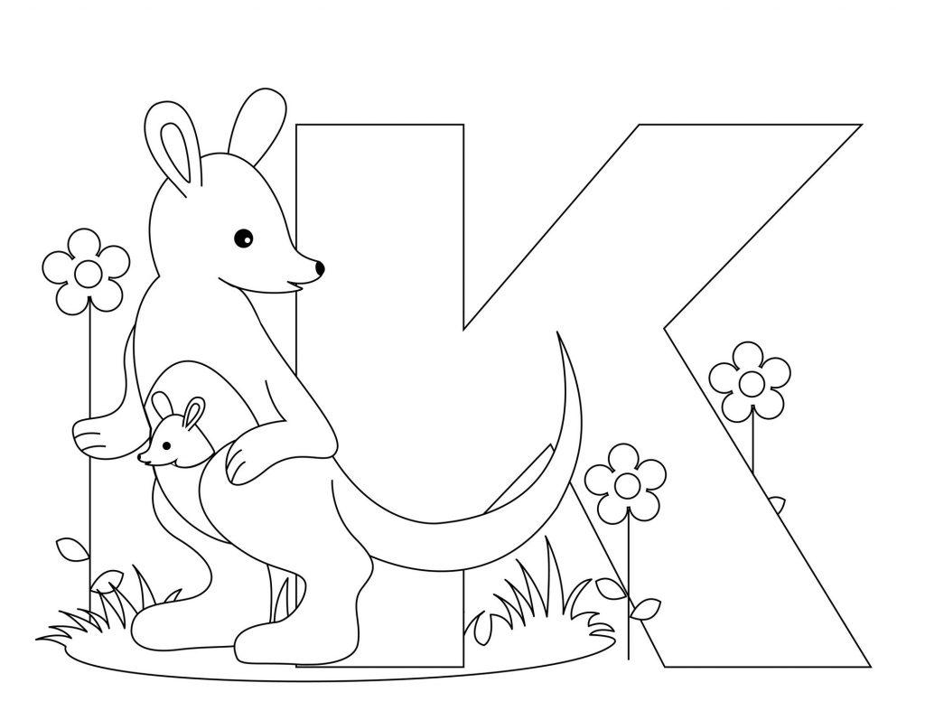 coloriage alphabet - Lettre K