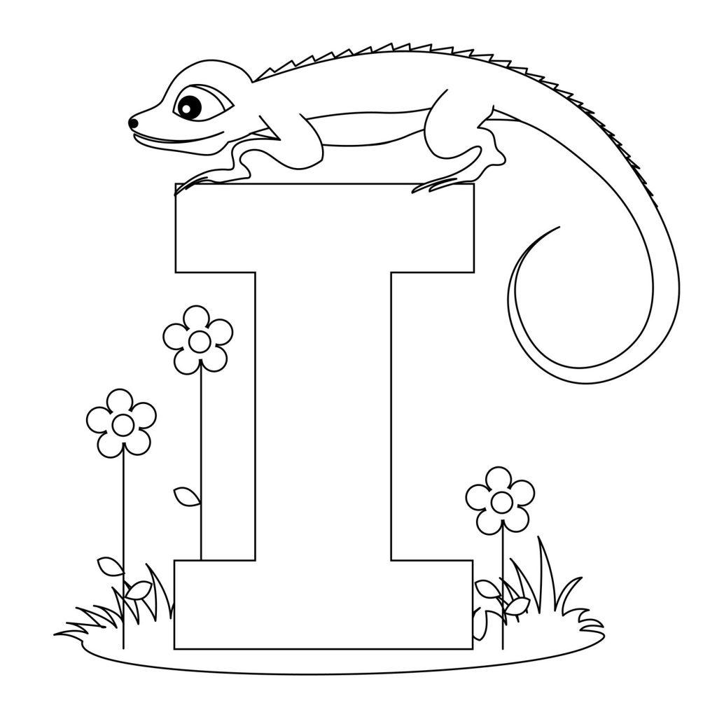 coloriage alphabet - Lettre I