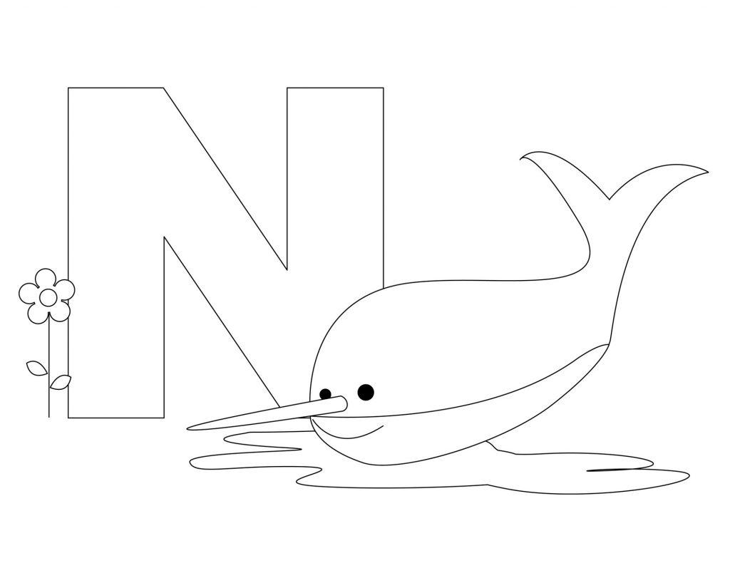 coloriage alphabet - Lettre N