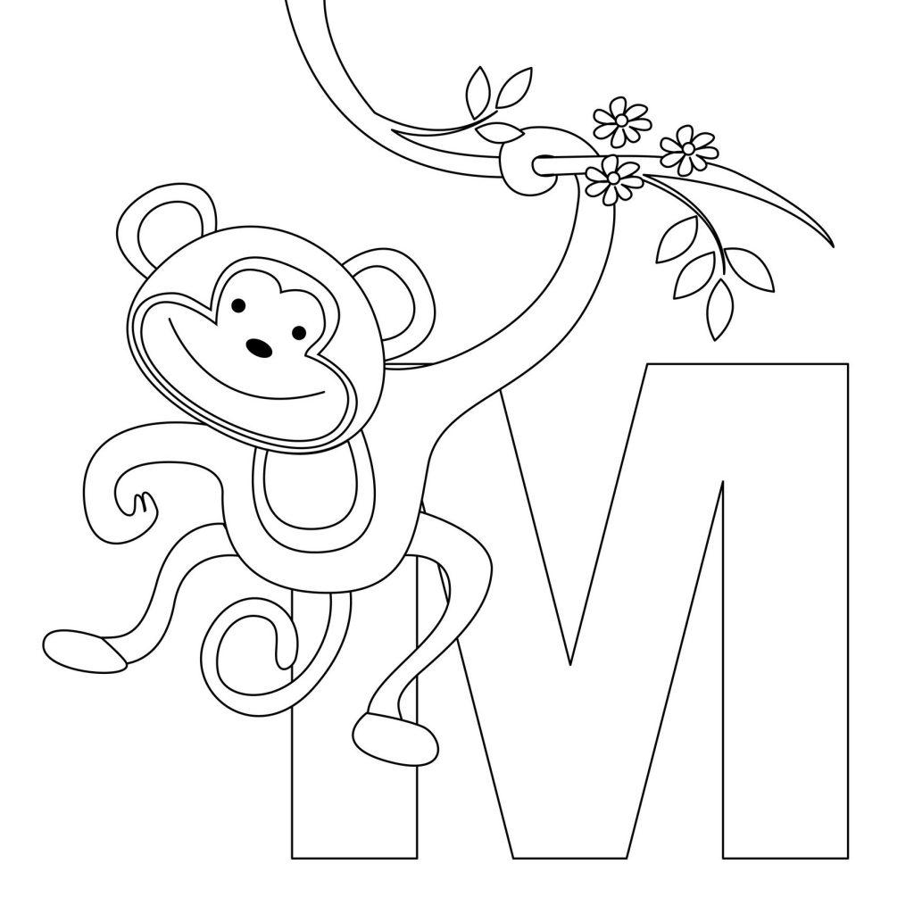 coloriage alphabet - Lettre M