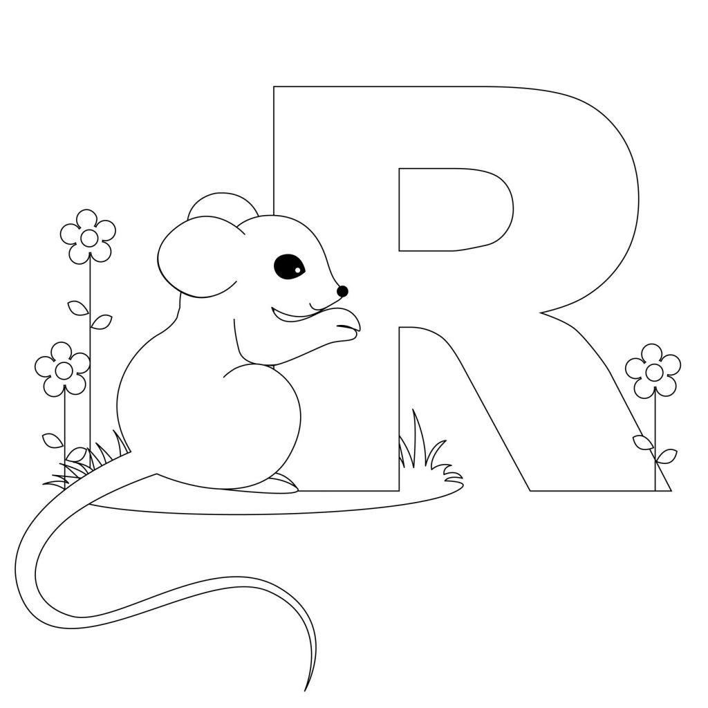 coloriage alphabet - Lettre R