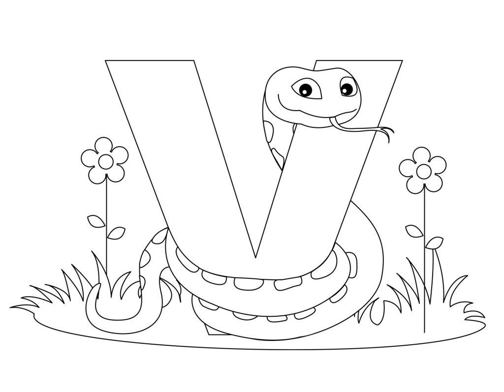 coloriage alphabet - Lettre V