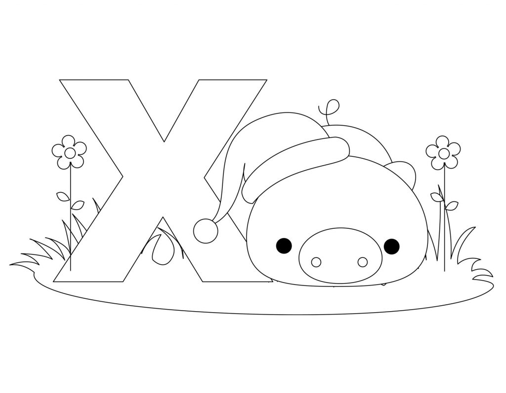 coloriage alphabet - Lettre X