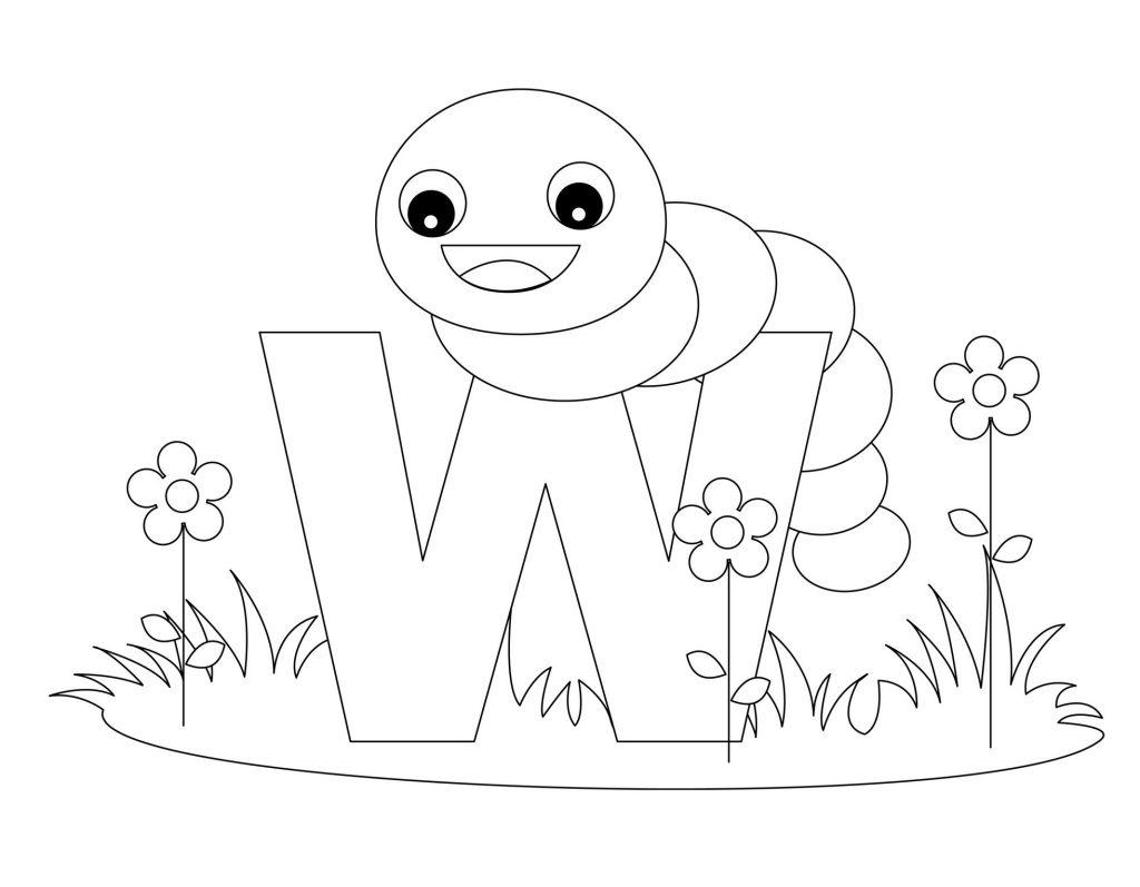 coloriage alphabet - Lettre W