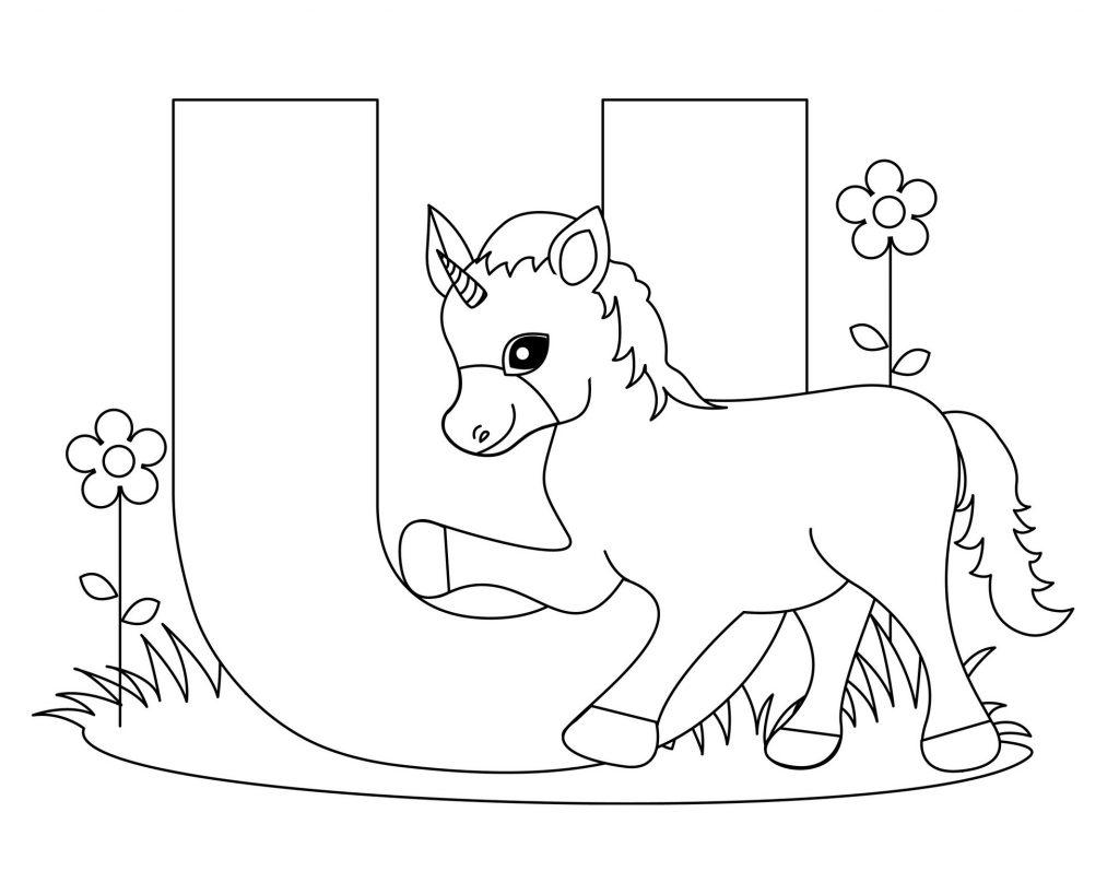 coloriage alphabet - Lettre U