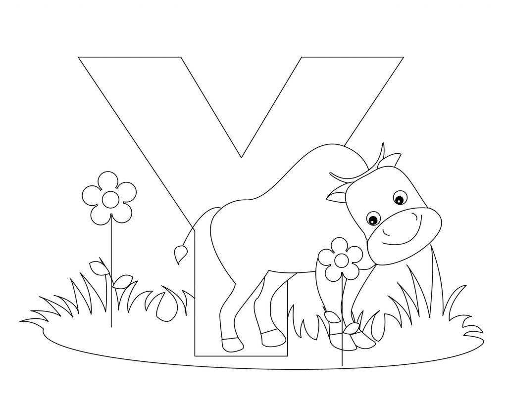 coloriage alphabet - Lettre Y