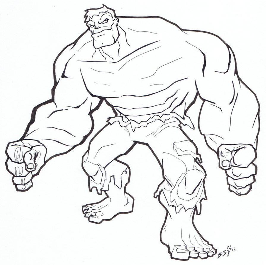 Coloriage Hulk en ligne
