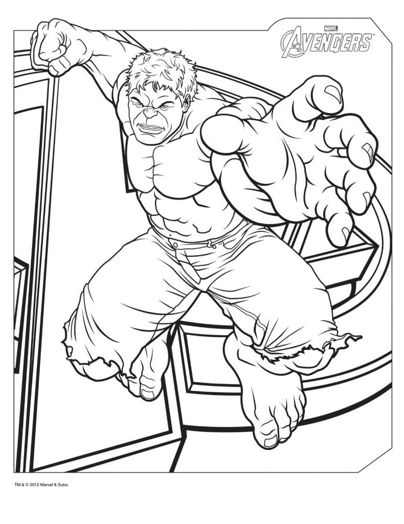 Coloriage de Hulk incroyable