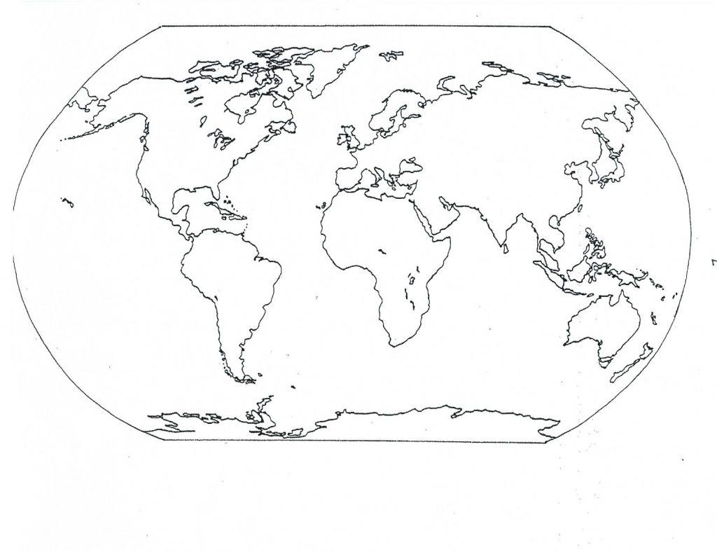 Coloriage carte du monde pour les enfants