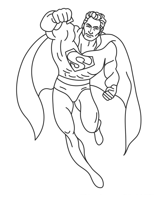 Coloriage Superman à imprimer