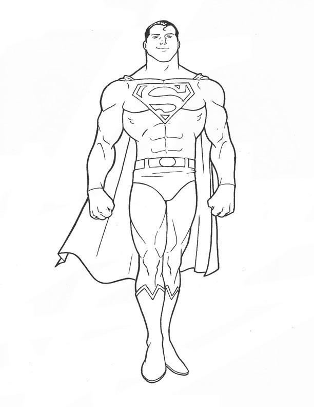 Coloriage de Superman à imprimer