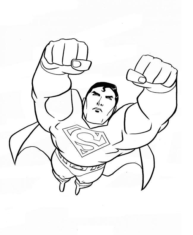 Coloriage de Superman