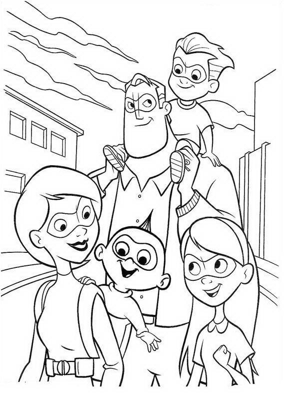 Coloriages Indestructibles - Famille Indestructibles