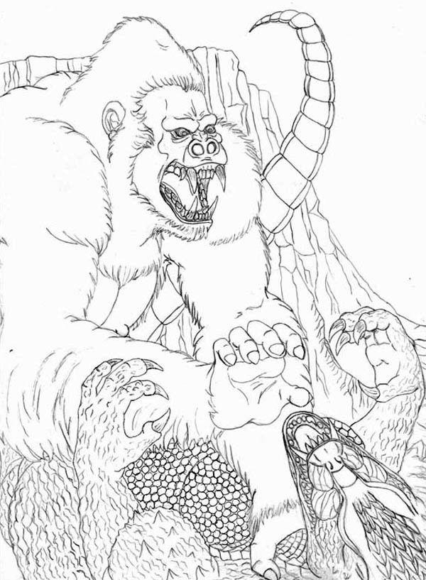 Coloriage de King Kong Fighting