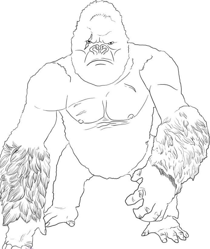 Coloriage de King Kong Great Ape